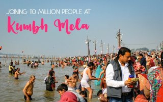 Joining 110 million people at the Kumbh Mela festival in Allahabad, India.