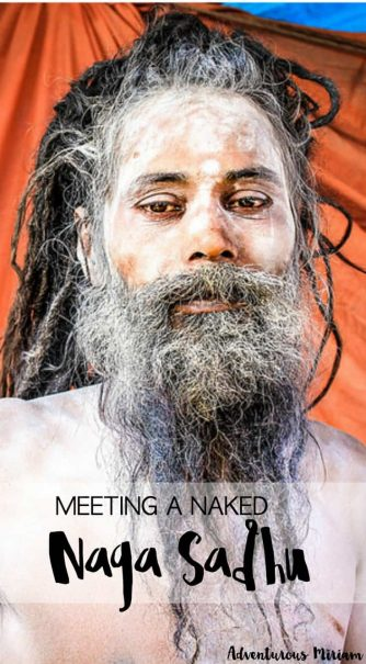 Travel story: My meeting with a naked Naga Sadhu in India. These holy men give up all possessions including their clothes to live in forests and secluded caves. They spend their days smoking marijuana and they cover their bodies with ashes. I met one of them while I was in India. Read all about it here.