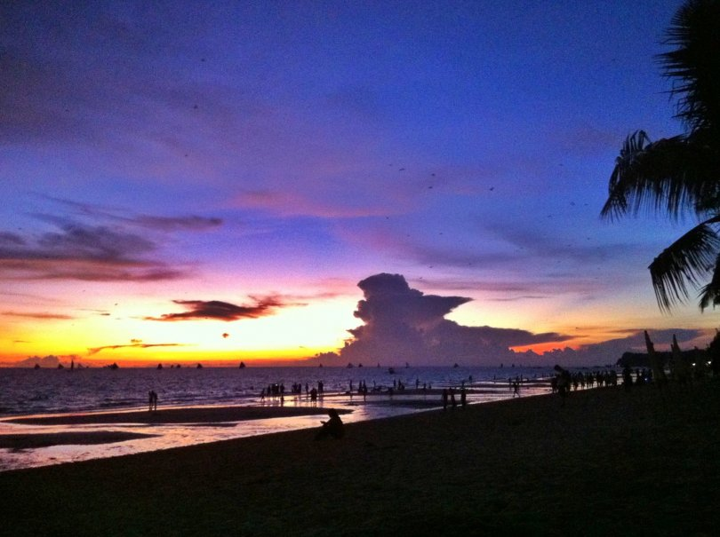 Beautiful sunsets at Boracay