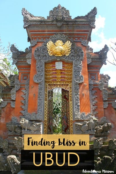 Finding bliss in Ubud, Bali. This mountain town has the most beautiful rice fields, vegetarian food and yoga centres.