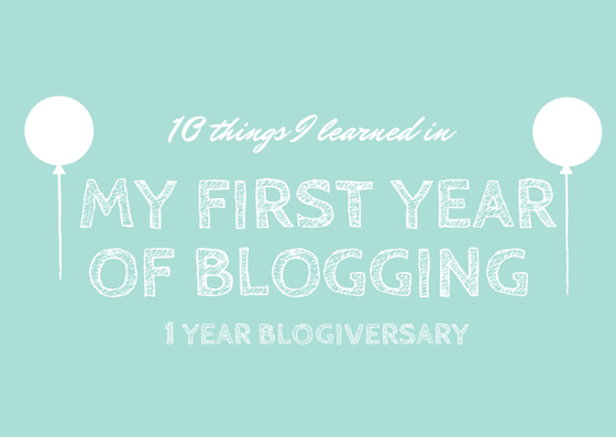 10 lessons I've learned from 1 year of blogging