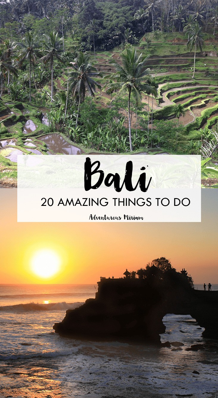 Going to Bali and wondering what to see and do? Here's a list of the 20 most amazing things to do in Bali, Indonesia.