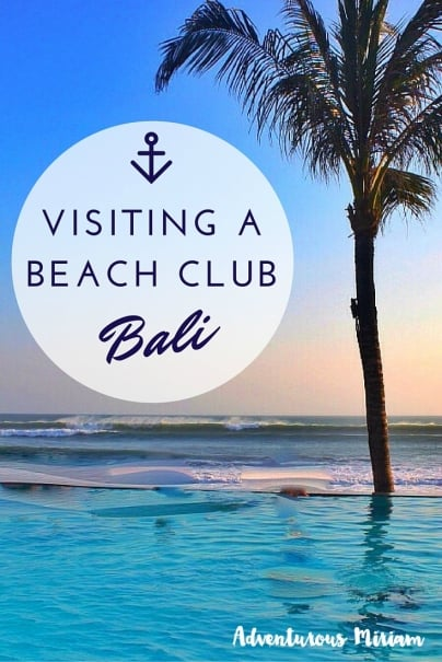 Visiting a beach club, Bali