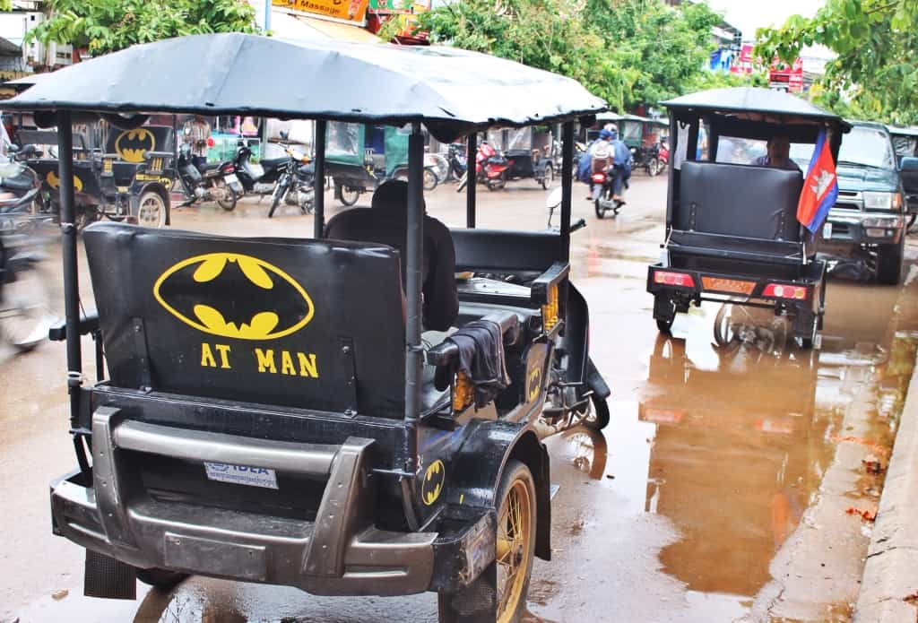 Tuk-tuks in Siem Reap