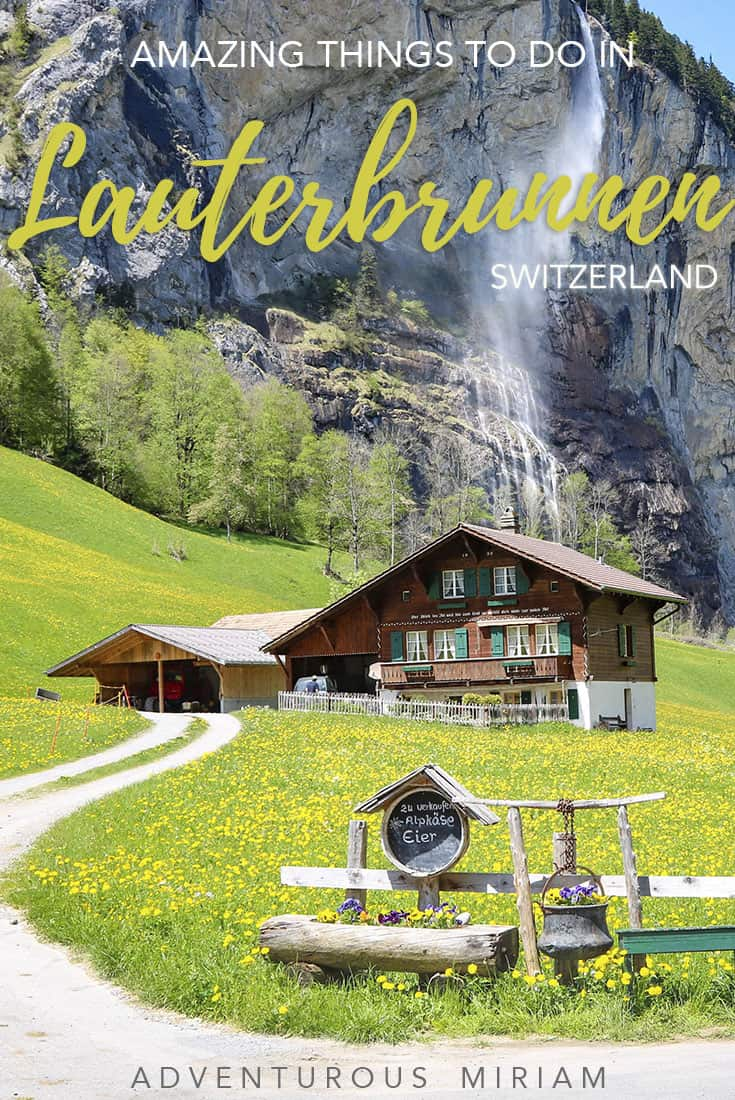 Lauterbrunnen is like a tiny piece of heaven, just a swooning train ride away from bigger cities like Bern and Lucerne. If you're in Switzerland and only visit one place, choose Lauterbrunnen and go chase waterfalls. Lauterbrunnen Valley and its 72 waterfalls is one of the most magical places in the world. Get tips on what to see and do in Lauterbrunnen here.
