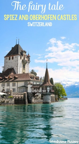 Spiez and Oberhofen are two medieval castles by Lake Thun in Switzerland. Oberhofen is more contemporary whereas Spiez is more historic. They are both super interesting to visit, especially on the same trip because it gives you perspective and background info about the area and history.