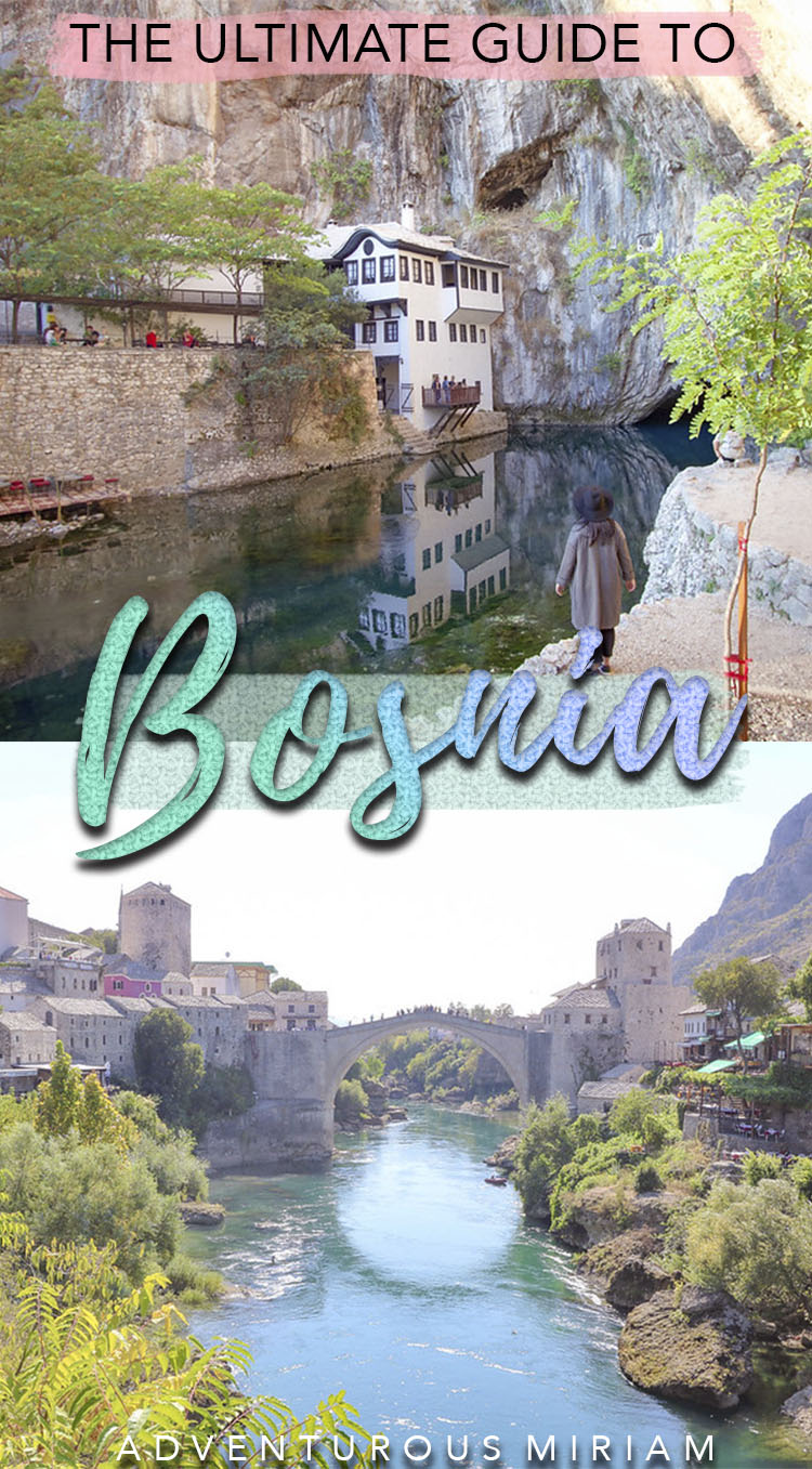 Get the must-have tips in this Bosnia travel guide, incl. what to see, what to eat and where to stay. Visit Bosnia and experience UNESCO sites, the beautiful city of Mostar, the nature and taste the delicious Bosnian coffee and food. This Bosnia travel guide is great for first-timers as well as solo travelers, couples and families. #bosnia #travel #balkans