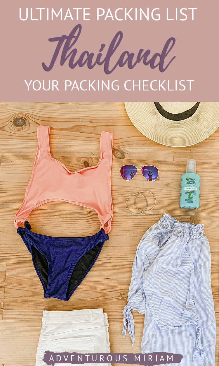 Wondering what to wear in Thailand? This Thailand packing list includes everything you need to bring, no matter what time of year you visit Thailand. #thailand #packinglist #asia