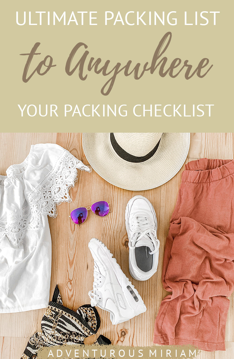 Wondering what to pack for your next trip? This ultimate travel packing list covers all the basic travel essentials for anywhere in the world #packing #packinglist #checklist